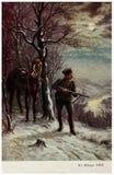 Der Soldat auf Patrouille Lizenzfreies Stockbild