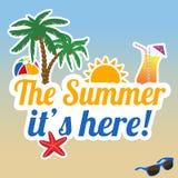 Der Sommer ist es hier Plakat Stockbilder