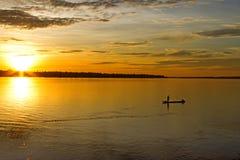 Der Sonnenaufgang auf dem Mekong Lizenzfreie Stockbilder