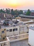 Der Sonnenuntergang über Luxor Lizenzfreie Stockfotos