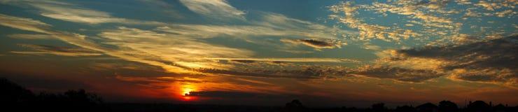 Der Sonnenuntergang Lizenzfreies Stockfoto