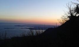 Der Sonnenuntergang Lizenzfreies Stockbild