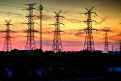 Der Sonnenuntergang des elektrischen Tuches Lizenzfreies Stockfoto