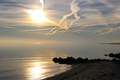 Der Sonnenuntergang ist innerhalb der Reichweite Stockfotos