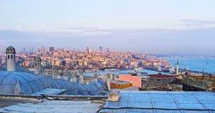 Der Sonnenuntergang in Istanbul Lizenzfreies Stockbild