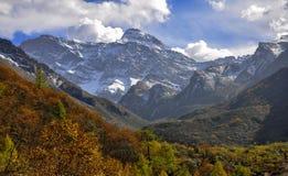 Der sonw Berg von Yading Lizenzfreies Stockbild