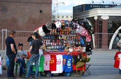 Der Souvenirladen am Roten Platz Stockfotos