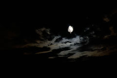 Der spähende Mond Stockbild