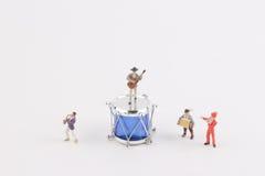 Der Spaß der Zahl in der Miniaturwelt Stockbilder