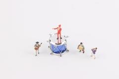 Der Spaß der Zahl in der Miniaturwelt Lizenzfreies Stockbild