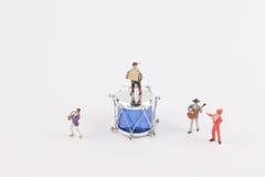 Der Spaß der Zahl in der Miniaturwelt Stockfoto