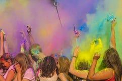 Der Spaß von Farben Lizenzfreies Stockfoto