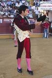 Der spanische Stierkämpfer Salvador Vega am paseillo oder an der Anfangsparade Stockbilder