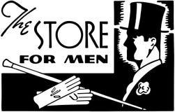 Der Speicher für Männer lizenzfreie abbildung