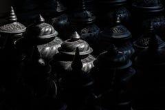 Der Speicher von schwarzen Lehmtonwaren Stockbild