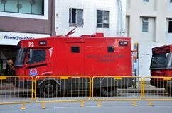 Spezialoperation-Befehlspolizeisteuerfahrzeug - Singapur Lizenzfreie Stockfotos