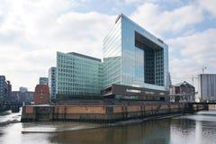 Der Spiegel-de hoofdkwartierbouw in Hafencity Hamburg Stock Afbeelding