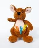 Der Spielzeugkänguruh lizenzfreies stockbild