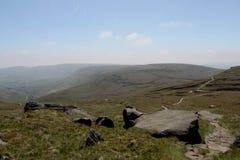 An der Spitze Mam-Felsens Höchstbezirk, Derbyshire Lizenzfreie Stockfotos