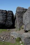 An der Spitze Mam-Felsens Höchstbezirk, Derbyshire Lizenzfreies Stockbild