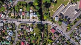 Der Spitze Straßen-Luftzeitspanne unten Stadt stock footage