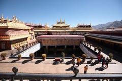 Der Spitzenüberblick über Jokhang-Tempel Lizenzfreie Stockfotografie