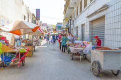Der spontane Markt Stockfotografie