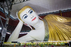 Der stützende Buddha auf Myanmar Lizenzfreie Stockfotografie