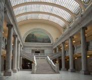 Der Staat Utah-Capitol- Hillkomplex in Salt Lake City, im historischen Außenrundbauhaube Innenraum-, Haus-, Senats- und soupremeg stockfotografie