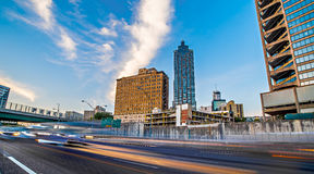 Der Stadtskyline Atlantas Georgia früher Morgen stockbilder