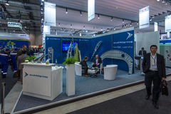 Der Stand von Flugzeugen Philipp Group Lizenzfreies Stockfoto