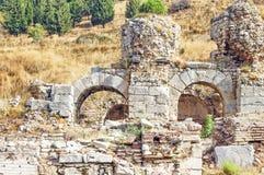 Der Standort und die Ruinen von Ephesus Lizenzfreie Stockfotografie
