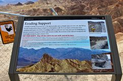 Der Standpunkt Zabriskie-Punkt, Death Valley, USA lizenzfreie stockfotografie