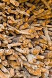 Der Stapel von firewoods Stockbild