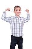 Der starke lächelnde Junge Lizenzfreies Stockfoto