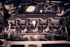 Der starke Motor eines Autos Internes Design der Maschine mit COM Stockbild