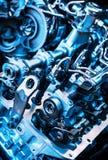 Der starke Motor eines Autos Internes Design der Maschine Automotormaschinenteil Moderner leistungsfähiger Automotor Stockfoto