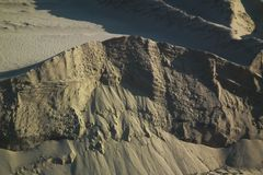 Der steile Berghang Stockfoto