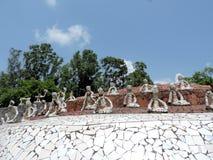 Der Steingarten von Chandigarh, Indien Stockbild