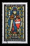 Der Stempel, der im Österreich gedruckt wird, zeigt St. Leopold Lizenzfreies Stockbild