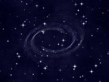 Der Stern-nächtliche Himmel lizenzfreie abbildung