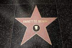 Der Stern von Annette Bening stockbilder