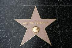 Der Stern von Aretha Franklin Stockfoto