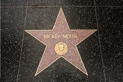 Der Stern von Mickey Mouse Stockbild