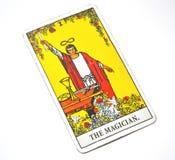 Der Steuerweiß-Hintergrund Magier-Tarot Card Powers Intelect magische Lizenzfreie Stockfotos