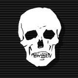 Der stilisierte menschliche Schädel stock abbildung