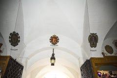 Der Stoff Hall in Krakau Polen Stockbild