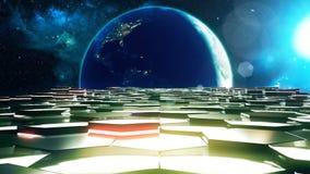 Der Straßenraum nahe der Erde Lizenzfreie Stockfotos