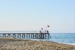 Der Strand in Alanya Stockbild