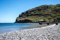 Der Strand bei Machico auf der Insel von Madeira Portugal Lizenzfreie Stockfotos